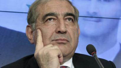 Qadri Jamil, Syria's deputy prime minister for economic affairs, listens during a news conference in Moscow, August 21, 2012. (Reuters/Maxim Shemetov)