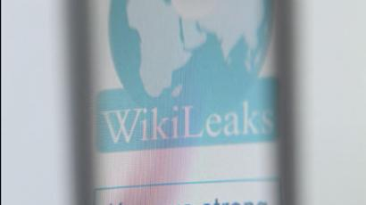 The logo of the WikiLeaks. (AFP Photo / Thomas Coex)