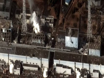 This DigitalGlobe satellite image recieved March 16, 2011 shows damage after the March 11 earthquake and tsunami at the Fukushima Dai Ichi Power Plant in Japan (AFP Photo)