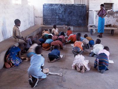 Elementary school in Zimbabwe
