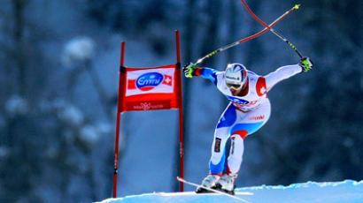 Alpine FIS World Cup. Training sessions. (RIA Novosti/Anton Denisov)