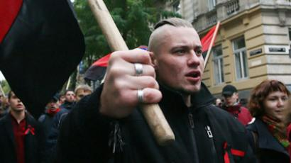 Russia blasts Ukraine nationalist riots on Victory Day