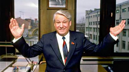 Boris Yeltsin in office in Moscow, February 1989