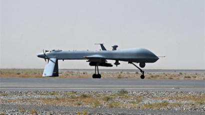 A US Predator unmanned drone armed with a missile. (AFP Photo / Massoud Hossain)