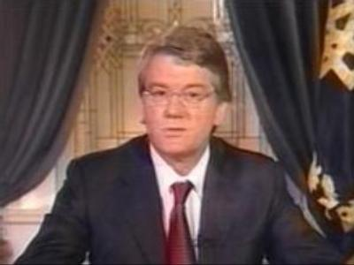 Yushchenko delivers nation-wide address