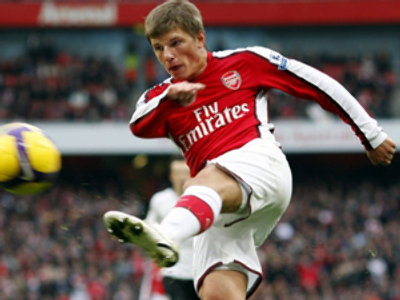 Arsenal's Russian player Andrey Arshavin (AFP PHOTO / Adrian Dennis)