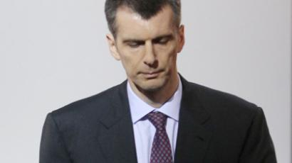 Billionaire Prokhorov to run for Russian president