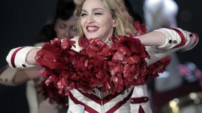 Pop singer Madonna performs at the Petersburg Sports and Concert Complex in St. Petersburg. (RIA Novosti/Alexey Danichev)