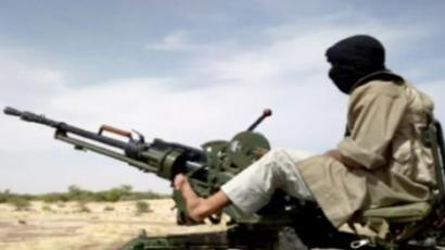 Al-Qaeda in the Islamic Maghreb (AQIM) fighters preparing for war in northern Mali (AFP Photo / Monitoring Service)