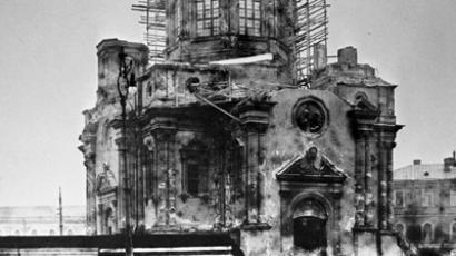 Demolition of the Annunciation church in the Labor square, September 1929 (RIA Novosti)