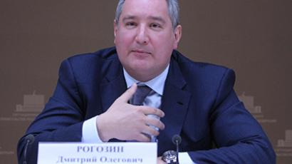 Deputy Prime Minister Dmitry Rogozin at a a meeting of the Military-Industrial Commission. (RIA Novosti / Sergey Mamontov)