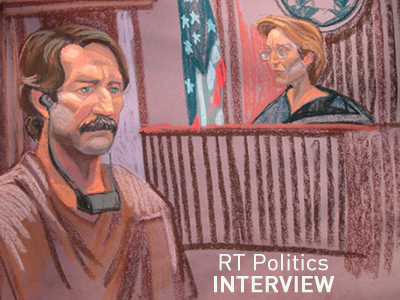 Courtroom sketch shows Viktor Bout (L) at Federal court with Judge Shira Scheindlin (AFP Photo / Christine Cornell)