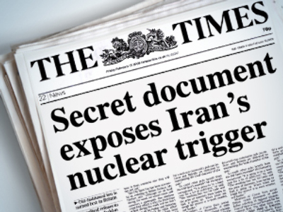 "British newspaper: Iran testing ""key component"" for nuclear bomb"