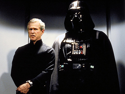 Bush confronts Darth Vader, rapper and other demons in memoirs