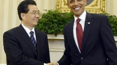 Barack Obama (R) and Hu Jintao (AFP Photo / Jewel Samad)