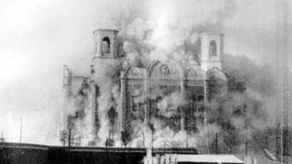 Demolition of Christ the Savior Cathedral in Moscow, 1931 (Image from wikipedia.org)