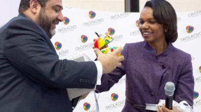 President of Skolkovo Coordination Council Ruben Vardanyan and former US Secretary of State Condoleezza Rice (RIA Novosti / Iliya Pitalev)