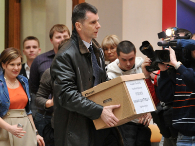 Seven contenders in Russia's presidential race