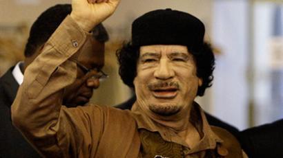 Libyan leader Col. Muammar Gaddafi  (Rick Gershon / Getty Images / AFP)