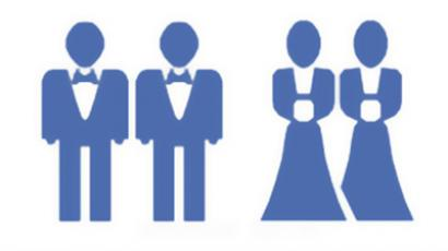 Facebook icons for same-sex marriage
