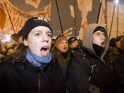 Participants of the rally held by Belarus opposition. (RIA Novosti / Sergey Samokhin)