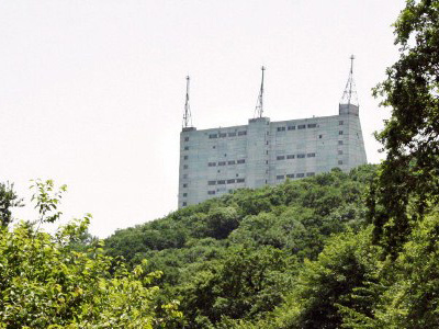 The Gabala radar station is pictured in northern Azerbaijan. (AFP Photo / Michael Mainville)