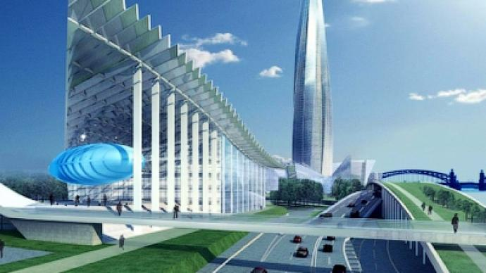 gazprom forced to move planned skyscraper in st