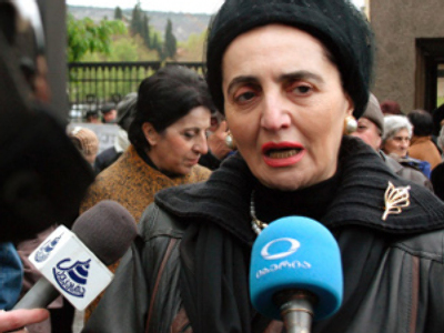 First Georgian president's widow seeks political asylum in Germany