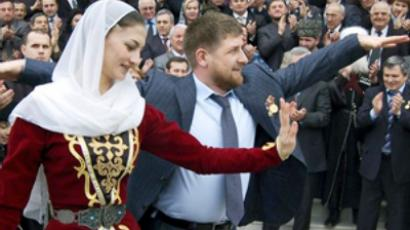 Ramzan Kadyrov dancing (AFP Photo)