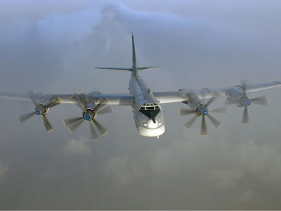 Tupolev Tu-95 in flight