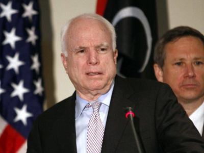 McCain's Moscow broadside earns Russian riposte