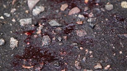 Blood on asphalt on Paytnitskaya Street 28 where journalist Oleg Kashin was severely beaten (RIA Novosti / Andrey Stenin)