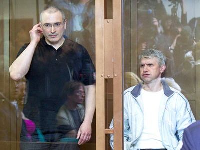 Mikhail Khodorkovsky and Platon Lebedev (RIA Novosti / Ilya Pitalev)