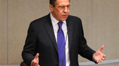 Russia's Foreign Minister Sergei Lavrov (RIA Novosti / Vladimir Fedorenko)