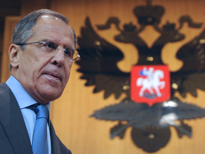 Russian Foreign Minister Sergey Lavrov speaks during a press conference in Moscow, July 16, 2012 (AFP Photo / Kirill Kudryavtsev)