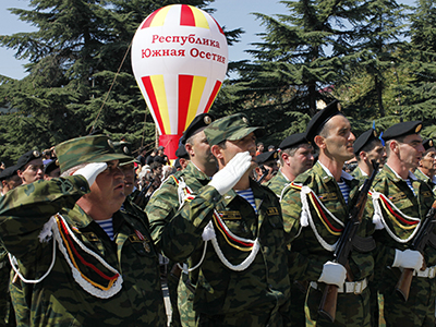 During the celebration of the Independence Day of South Ossetia in Tskhinval. (RIA Novosti / Ruslan Vahaev)