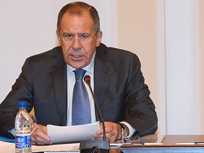 Russian Foreign Minister Sergey Lavrov. (RIA Novosti / Eduard Pesov)