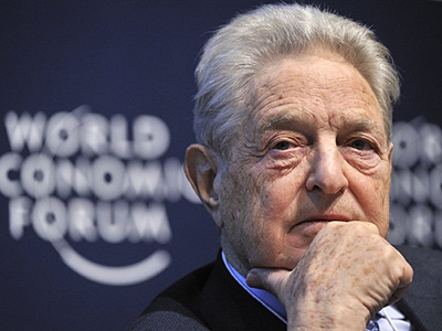Davos: A Hungarian-American financier George Soros. (AFP Photo / Fabrice Coffrini)