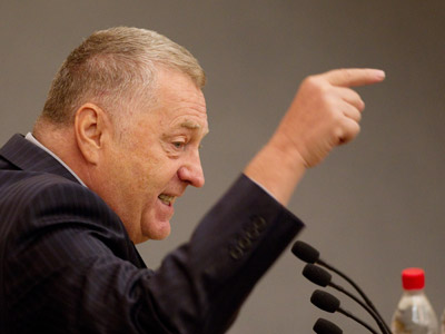 Russian Liberal Democratic Party leader Vladimir Zhirinovsky at a State Duma meeting. (RIA Novosti/Iliya Pitalev)
