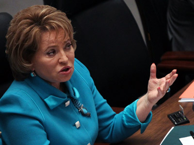 Speaker of the Russian Federation Council Valentina Matvienko (RIA Novosti/Valeriy Melnikov)