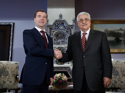 Medvedev and Abbas talk peace in Moscow