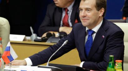 Medvedev warns of arms race by 2020 without agreement on missile defense (RIA Novosti / Mikhail Klementiev)