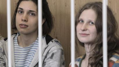 Pussy Riot punk band members Maria Alekhina (right) and Nadezhda Tolokonnikova. (RIA Novosti/Andrey Stenin)