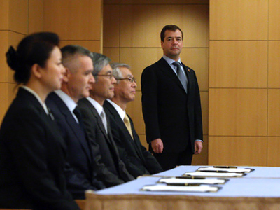 Medvedev defends position on Kuril Islands, invites Japanese PM to Russia