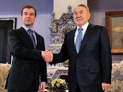 Medvedev wishes Nazarbayev luck at presidential election