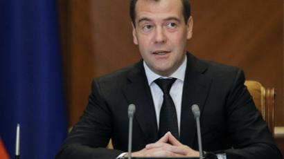 Russian Prime Minister Dmitry Medvedev (AFP Photo / Ekaterina Shtukina)
