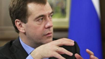 Dmitry Medvedev attends a meeting with members of the Russian business community (AFP Photo / RIA Novosti / Kremlin Pool / Dmitry Astakhov)