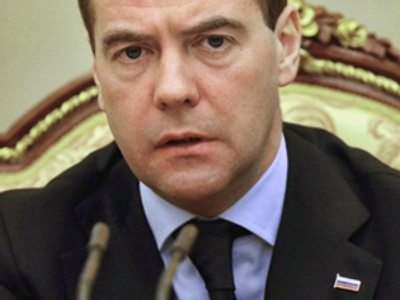 Russian Federation, Moscow : Russian President Dmitry Medvedev speaks during an emergency session of the Security Council at the Kremlin in Moscow on March 29, 2010. (AFP Photo / RIA Novosti / Vladimir Rodionov)