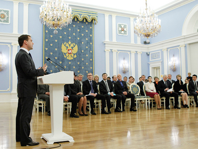 Medvedev tightens grip on officials