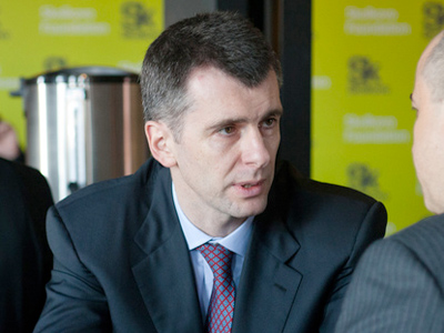 Mikhail Prokhorov eager to exchange business for politics